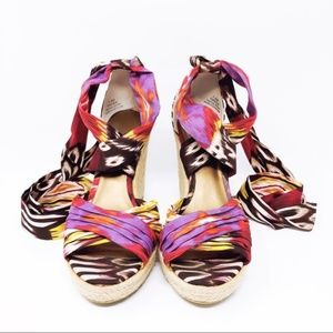 Impo Woman's Tipper Multicolored Wedges Size 7.5M